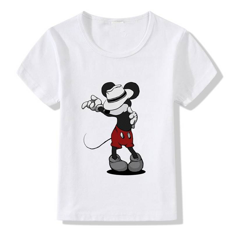 Mouse Michael Jackson Children Printed Cotton Round Collar Short Sleeve T-Shirt Cool Design Casual Kid's Tee A19514