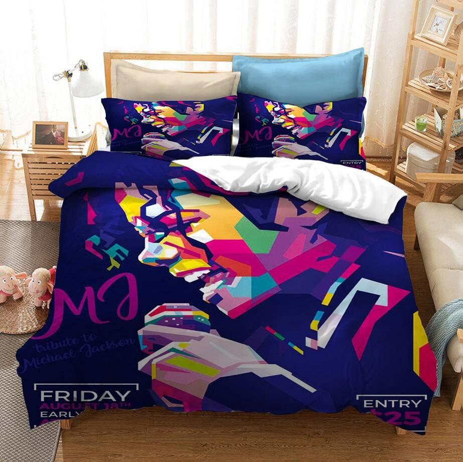 Michael Jackson Bedding Set 3PCS Duvet Cover Pillowcase UK Single Double King