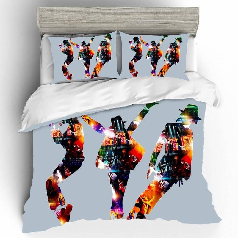DIY Michael Jackson Bedding Sets Duvet Cover Home Textile Single Queen King Size Bedding Set Pillowcases Bed Linen