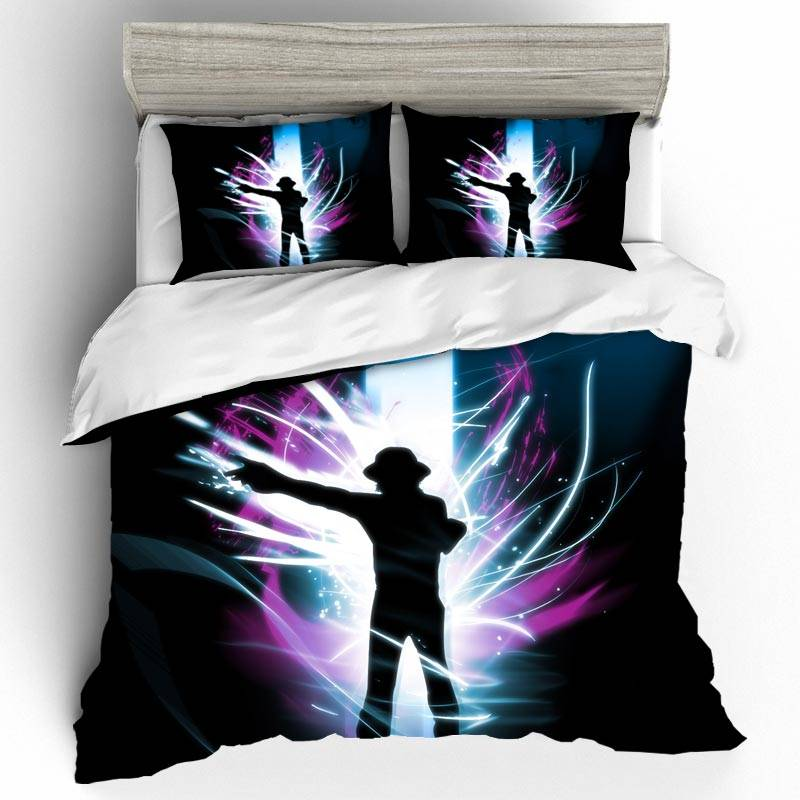 DIY Michael Jackson Bedding Sets Duvet Cover Home Textile Single Queen King Size Bedding Set Pillowcases Bed Linen